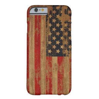 Caja de la casamata de la bandera americana funda para iPhone 6 barely there