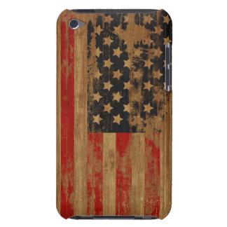 Caja de la casamata de la bandera americana funda para iPod
