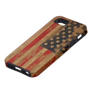 Caja de la casamata de la bandera americana iPhone 5 fundas