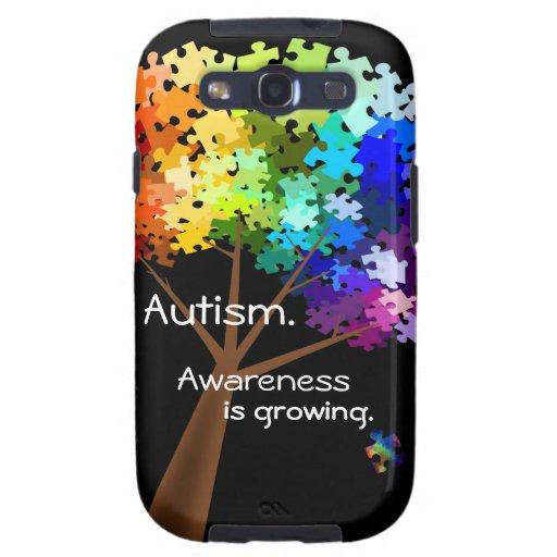 Caja de la casamata de la conciencia del autismo samsung galaxy SIII funda