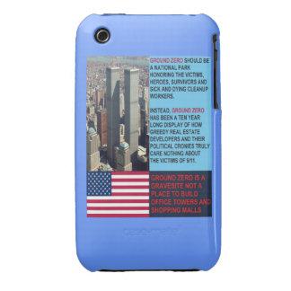 Caja de la casamata de la curva del punto cero WTC iPhone 3 Carcasa