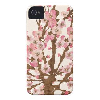 Caja de la casamata de la flor de cerezo iPhone 4 Case-Mate cárcasas