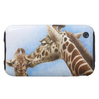 Caja de la casamata de la jirafa y del becerro funda though para iPhone 3