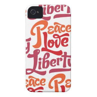 Caja de la casamata de la libertad del amor de la iPhone 4 carcasas