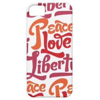Caja de la casamata de la libertad del amor de la iPhone 5 carcasa