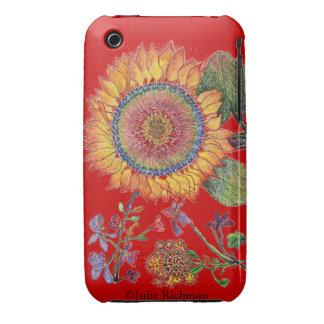 Caja de la casamata de la margarita azul Case-Mate iPhone 3 cárcasas