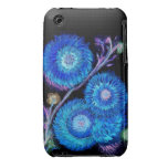 Caja de la casamata de la margarita azul iPhone 3 Case-Mate cárcasas