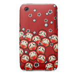 Caja de la casamata de la muñeca de Daruma iPhone 3 Case-Mate Protectores