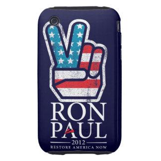 Caja de la casamata de la paz de Ron Paul Tough iPhone 3 Protector