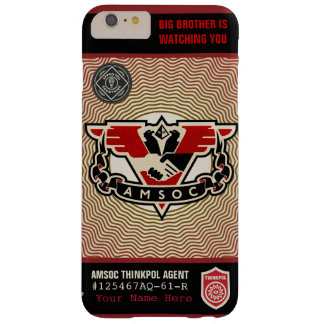 Caja de la casamata de la policía 1984 AMSOC del Funda De iPhone 6 Plus Barely There