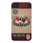 Caja de la casamata de la policía 1984 AMSOC del iPhone 4 Cárcasa
