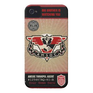 Caja de la casamata de la policía 1984 AMSOC del p iPhone 4 Case-Mate Funda