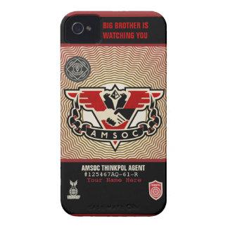 Caja de la casamata de la policía 1984 AMSOC del p Case-Mate iPhone 4 Funda