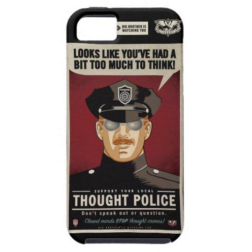 Caja de la casamata de la policía del pensamiento iPhone 5 fundas