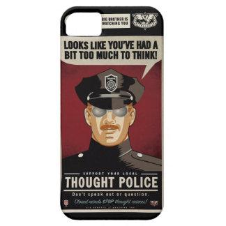 Caja de la casamata de la policía del pensamiento iPhone 5 Case-Mate protector