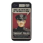Caja de la casamata de la policía del pensamiento iPhone 4 carcasa