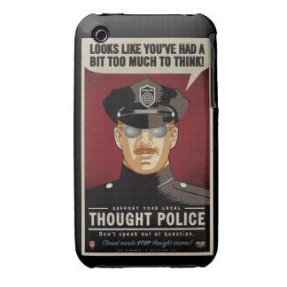 Caja de la casamata de la policía del pensamiento iPhone 3 Case-Mate cárcasas