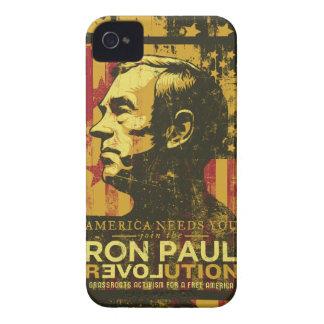 Caja de la casamata de la revolución de Ron Paul iPhone 4 Cárcasa