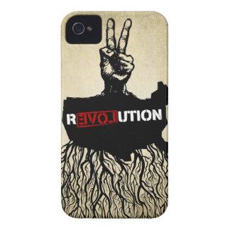 Caja de la casamata de la revolución del amor Case-Mate iPhone 4 funda