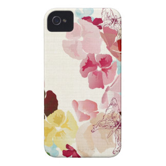 Caja de la casamata de las amapolas Case-Mate iPhone 4 cárcasas