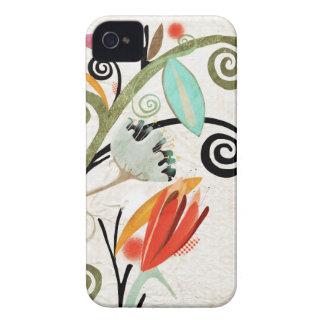 Caja de la casamata de los remolinos de la flora d Case-Mate iPhone 4 protector