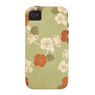 Caja de la casamata de Sakura del vintage Case-Mate iPhone 4 Carcasas