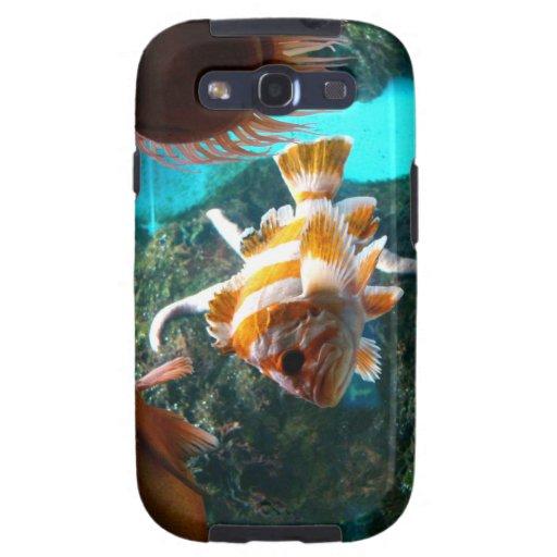 caja de la casamata de Samsung de los pescados Galaxy S3 Cobertura