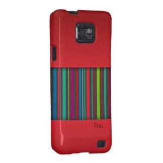 Caja de la casamata de Samsung del color rojo y de Samsung Galaxy S2 Carcasas