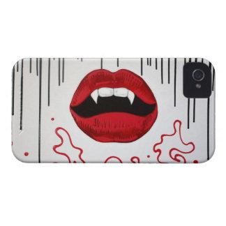 Caja de la casamata del beso del vampiro Case-Mate iPhone 4 carcasa