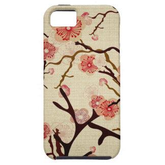 Caja de la casamata del cerezo del vintage funda para iPhone SE/5/5s