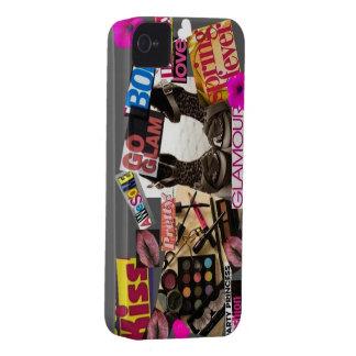 Caja de la casamata del collage de la revista Case-Mate iPhone 4 protector
