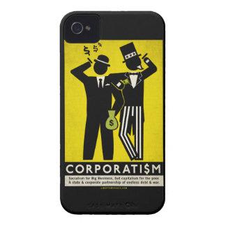 Caja de la casamata del corporatismo funda para iPhone 4