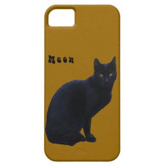 Caja de la casamata del gato negro iPhone4 Funda Para iPhone SE/5/5s