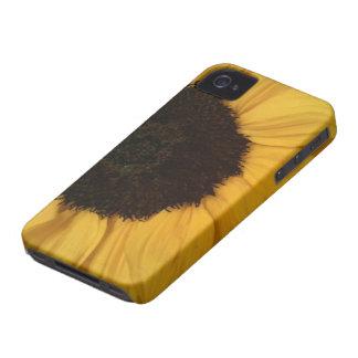 Caja de la casamata del girasol iPhone 4 Case-Mate cárcasas