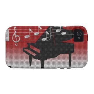 Caja de la casamata del iPhone 4 de la música del  iPhone 4/4S Funda