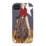 Caja de la casamata del iPhone 4 del caballo de la Vibe iPhone 4 Funda
