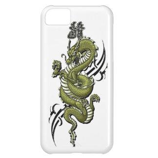 Caja de la casamata del iPhone del dragón verde Funda Para iPhone 5C