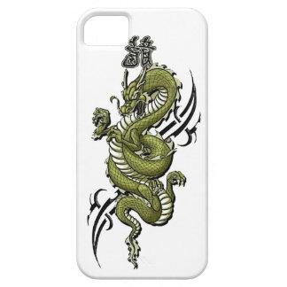 Caja de la casamata del iPhone del dragón verde iPhone 5 Funda