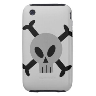 Caja de la casamata del iPhone gris 3 del cráneo y iPhone 3 Tough Carcasa