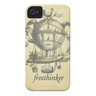 Caja de la casamata del librepensador Case-Mate iPhone 4 protectores