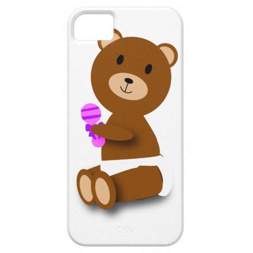Caja de la casamata del oso del bebé iPhone 5 carcasas