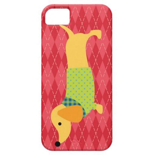 Caja de la casamata del perro del Dachshund iPhone 5 Cárcasa