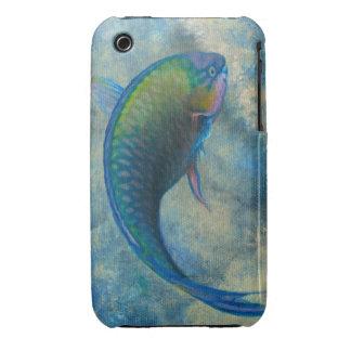 Caja de la casamata para la galaxia S - pez papaga iPhone 3 Case-Mate Cárcasa