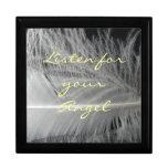 Caja de la cita del ángel cajas de recuerdo