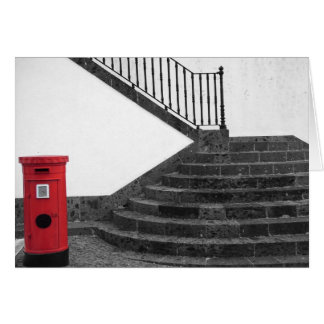 Caja de la escalera y del poste felicitaciones