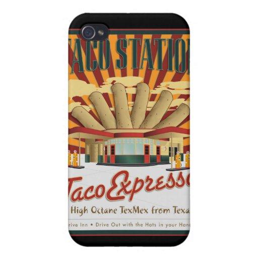 Caja de la Estación-Mota del Taco iPhone 4/4S Fundas