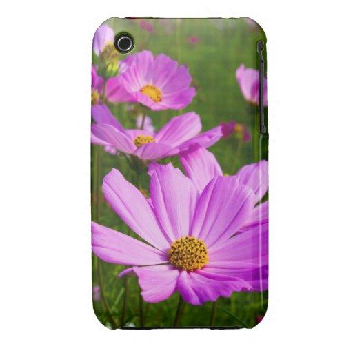 Caja de la flor del cosmos Case-Mate iPhone 3 protectores