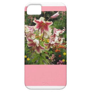 Caja de la flor del lirio de la casamata iphone5 iPhone 5 funda