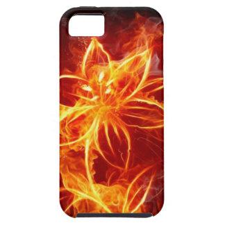 caja de la flor iphone5 del fuego iPhone 5 Case-Mate coberturas