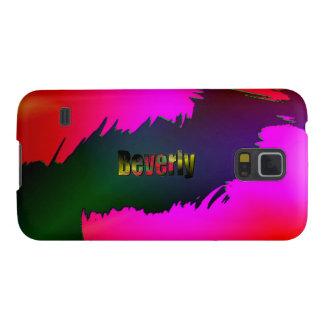 Caja de la galaxia de Beverly en diseño rosado Funda Galaxy S5